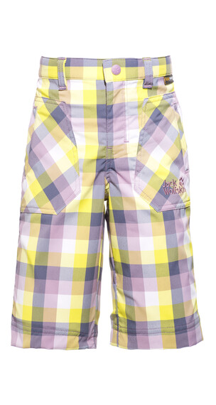 Jack Wolfskin Cube Shorts Kids soft violet checks